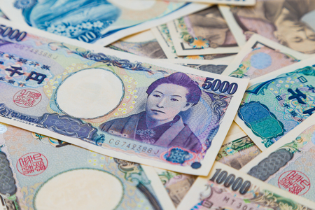 japanese currency: BAckground of Japanese currency notes, JPY money