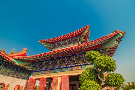 lengnoeiyi: Pagoda of Chinese New Year at Thai-Chinese temple, Dragon Temple Kammalawat (Wat Leng Nei Yi), Thailand