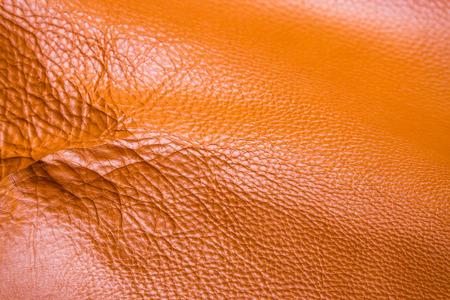 cuero vaca: Natural full grain tan cow leather, Texture background. Foto de archivo