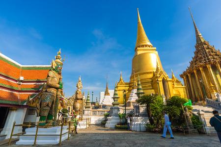 Royal grand palace temple emerald architecture at bangkok, Thailand