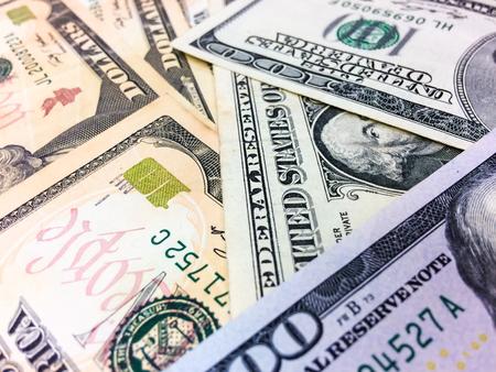 yen note: Background of cash US dollars close up