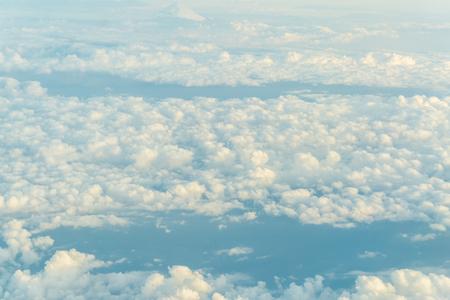 Blue sky with cloud with cloud sun light, Nature landscape