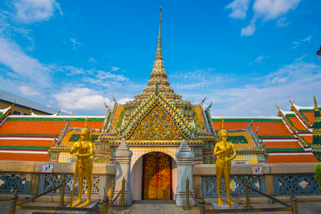 Royal grand palace temple golden pagoda famous templem in Thailand