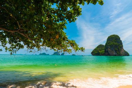 L'île de la forêt tropicale de Railay beach à Krabi en Thaïlande