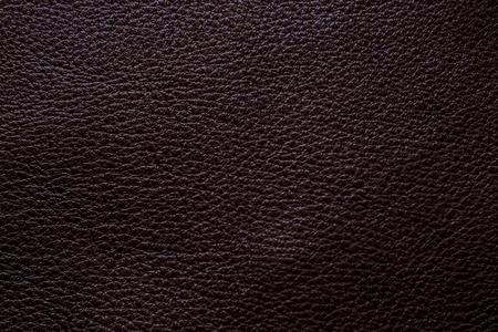Dark brown full grain genuine leather cowhide background, Decoration texture
