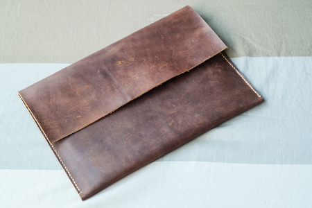 Leather tablet bag handmade accessories, Art object