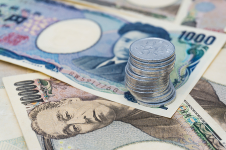 JPY Japanese yen money business concept background