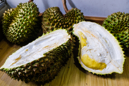 Durian tropical asian fruit yellow sweet and fat best of fruit