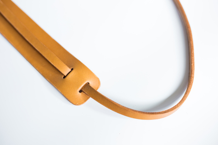 Genuine vegetable tanned leather camera strap handmade, Art craftsmansghip object