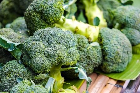 Fresh broccoli raw vitamin food sell in market Imagens