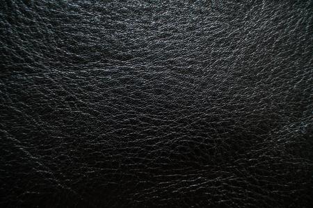 Abstrakter schwarzer echter Vollnarbenlederhintergrund, Kuhhautbeschaffenheit
