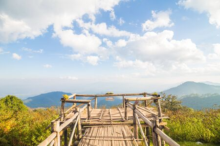 View point on mountain sky with cloud nature landscape