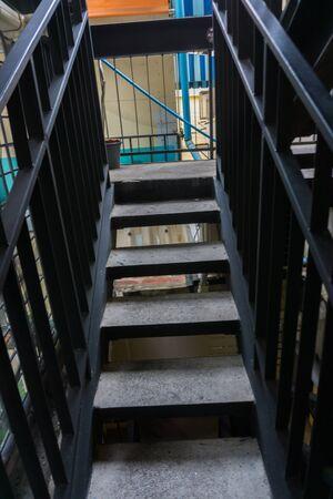Modern dark stair indoor metal design, Staircase indoor