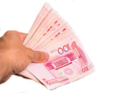 Hongkong various value money note on white background