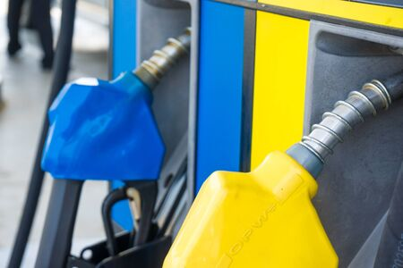 Oil hose in gas station transport energy industry