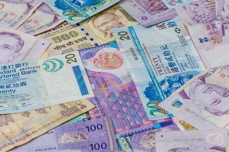 Variety value money bill of Singapore note, SGD money background