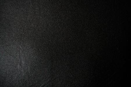 Leder Textur abstrakter Hintergrund, echtes schwarzes Leder