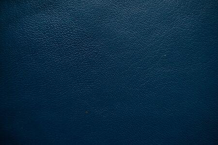 Echtes blaues Leder Vollnarbenstruktur Nahaufnahme Kuhhaut