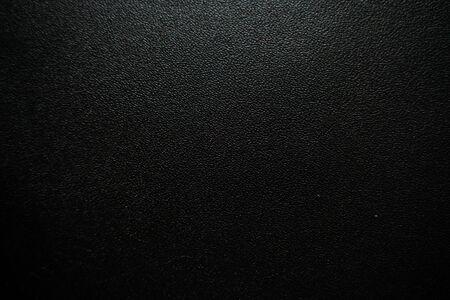 Texture de cuir véritable noir de luxe se bouchent, fond de peau de vache
