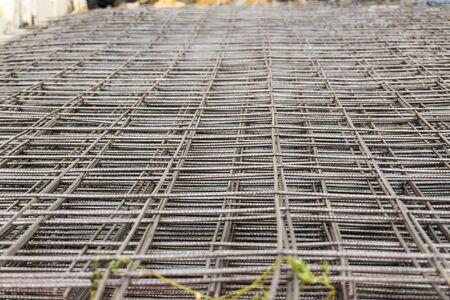 RB Metal round bar grill make floor building Reklamní fotografie