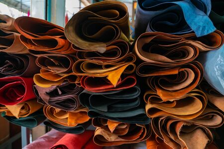 Magasin d'artisanat d'artisanat en cuir véritable
