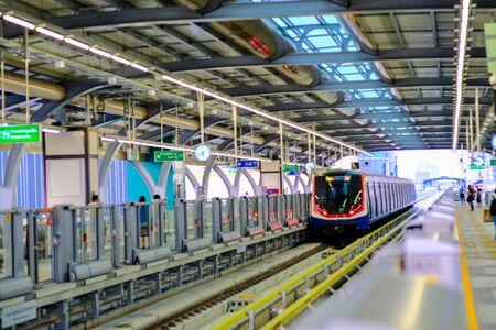 BTS skytrsain city transport infrastructure of Bangkok Thailand