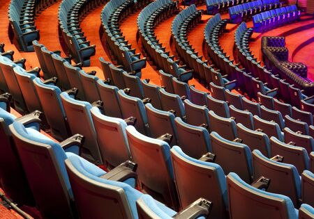 rows of chairs in a theater Conference room  photo