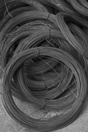 Steel bars close- up background. Reinforcing bar background photo