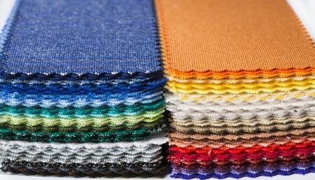 fabric color samples Standard-Bild