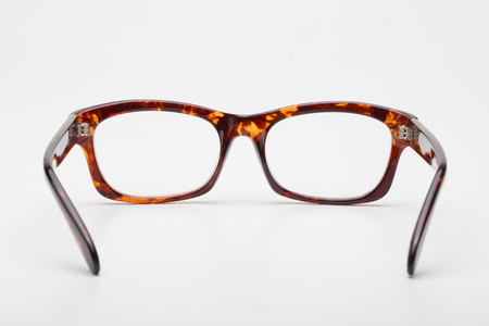 ray ban: Glasses. Isolated on white background Stock Photo