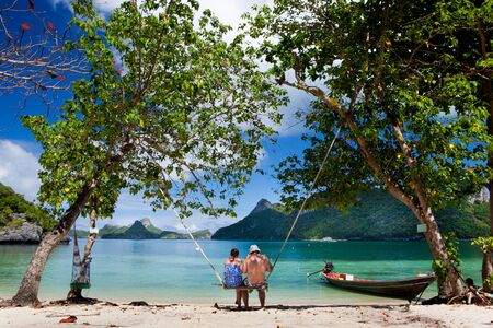 サムイ島、タイの近くにアーントーン国立海洋公園 写真素材