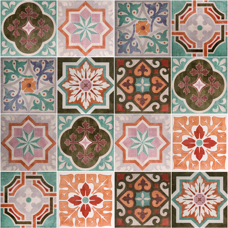 포르투갈 세라믹 타일 패턴.