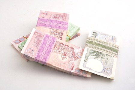 baht: Thai Baht banknotes Stock Photo