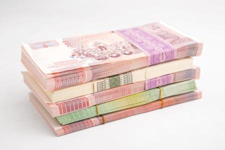 Thai Baht banknotes Standard-Bild