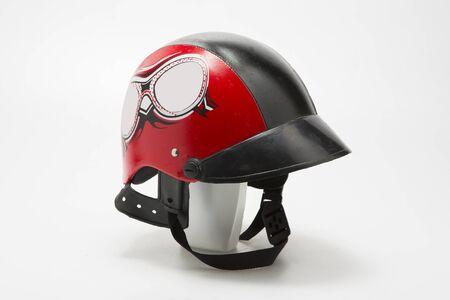 casco rojo: Casco rojo Foto de archivo