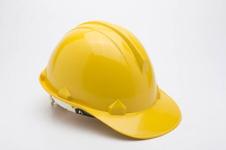 Isolated yellow helmet