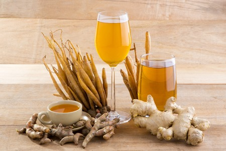 For herbal ingredients including lemon grass, ginger, galangal, ginger and turmeric. Stock Photo - 43571638