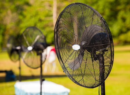 Outdoor electric mist fan