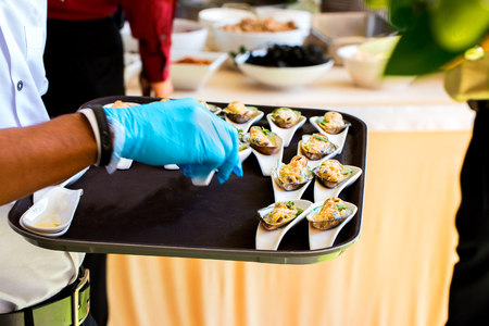 Food Buffet Catering Dining Eating Party Stock Photo