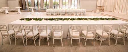 arched: Chairs arranged in a party.