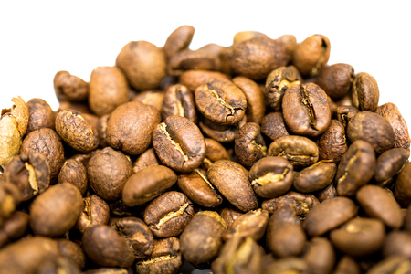 Closeup of roasted coffee beans Stock Photo
