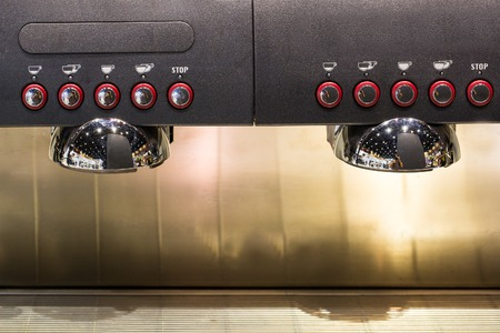 Coffee machine ready to use Stock Photo