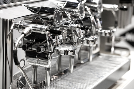 capacino: Coffee machine ready to use Stock Photo