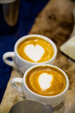 Coffee latte art Stock Photo
