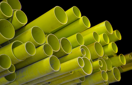 Pvc water pipe in many sizes Stock Photo