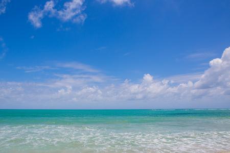 Coastal sea waves with blue sky Stock Photo