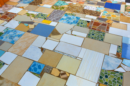 Multi-colored tiles. Banque d'images