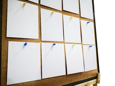 Sticky notes on the board