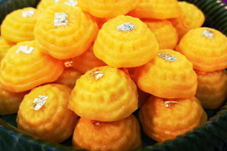 Thai dessert named Gold with golden color.