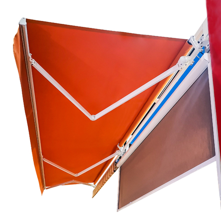 Canvas roof on white background